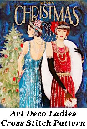 Art Deco Ladies Cross Stitch Pattern