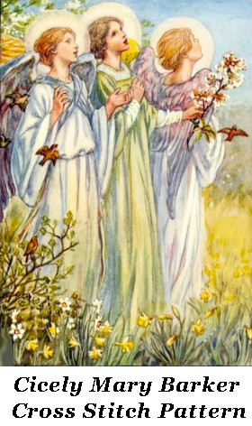 Cicely Mary Barker Angels Cross Stitch Pattern