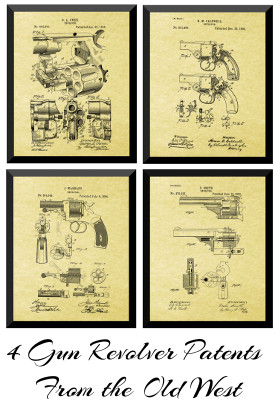 Old West Gun Patent Prints
