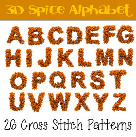 Spice Alphabet Cross Stitch Patterns