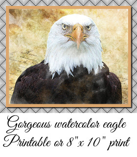 Watercolor Eagle Print