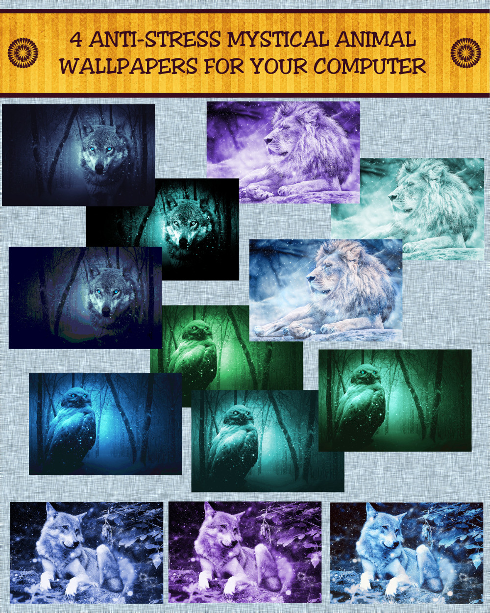 4 Anti-Stress Mystical Animal Wallpapers For Your Computer: Use EFT & These Gorgeous Animals To ...