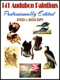 141 Audubon Paintings PROFESSIONALLY EDITED On A DVD