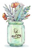 """Be Awesome, Version 2"" Cross Stitch Pattern"