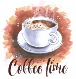 """Coffee Time"" Cross Stitch Pattern"