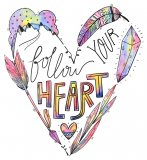 """Follow Your Heart"" Cross Stitch Pattern"