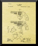 "Wild West Gun Revolver Patent from 1884, 8"" x 10"""