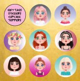 DIY Young Women Printable Gift Tags, Stickers & Cupcake Toppers