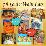 Printable Louis Wain Wall Art: 98 Printable Cat Wall Art Prints, Instant Download - $980 in Savings!