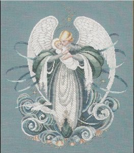 """Angel Of The Sea"" Cross Stitch Pattern, Lavender and Lace, Marilyn Leavitt-Inblum, Told In A Garden, 1996"