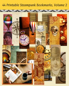 44 DIY Printable Steampunk Bookmarks, Volume 2: High Resolution Images