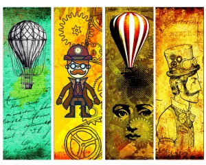 44 DIY Printable Steampunk Bookmarks, Volume 1: High Resolution Images