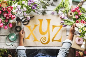 Gorgeous Copper Foil Alphabet, 73 Letters, Numbers and Symbols: Instant Download