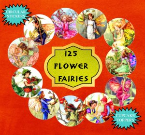 508 Flower Fairies Printables: Printable Bookmarks, Printable Stickers, Printable Cupcake Toppers, Printable Collage Sheets