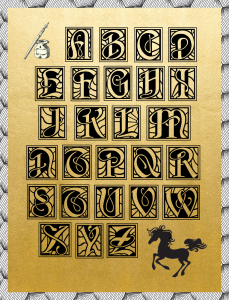 Beautiful Digital and Printable Alphabet That Will Absorb Any Background Color of Your Choice