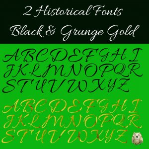 2 Historical Digital Alphabets: Instant Download