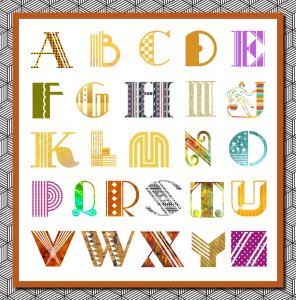 3 STUNNING Digital and Printable Alphabets in a Multitude of Colors