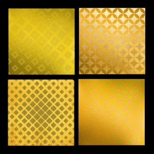 "14 Gold on Gold Digital Papers, Including Foils and Glitter: 12"" x 12"", Professional Resolution For Printing"