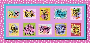 50 Inspirational Quotes Cross Stitch Patterns: Instant Download