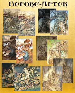 345 Arthur Rackham Wall Art Prints, Professionally Edited, All Color - Instant Download