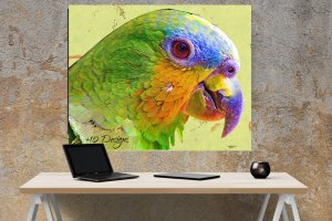 Printable Watercolor Parrot:  High Resolution Image For Printing